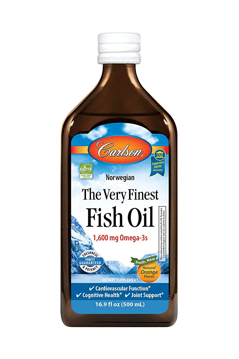 地下室集中的な敏感なCarlson Labs Very Finest Liquid Fish Oil, Orange, 500ml by Carlson Laboratories