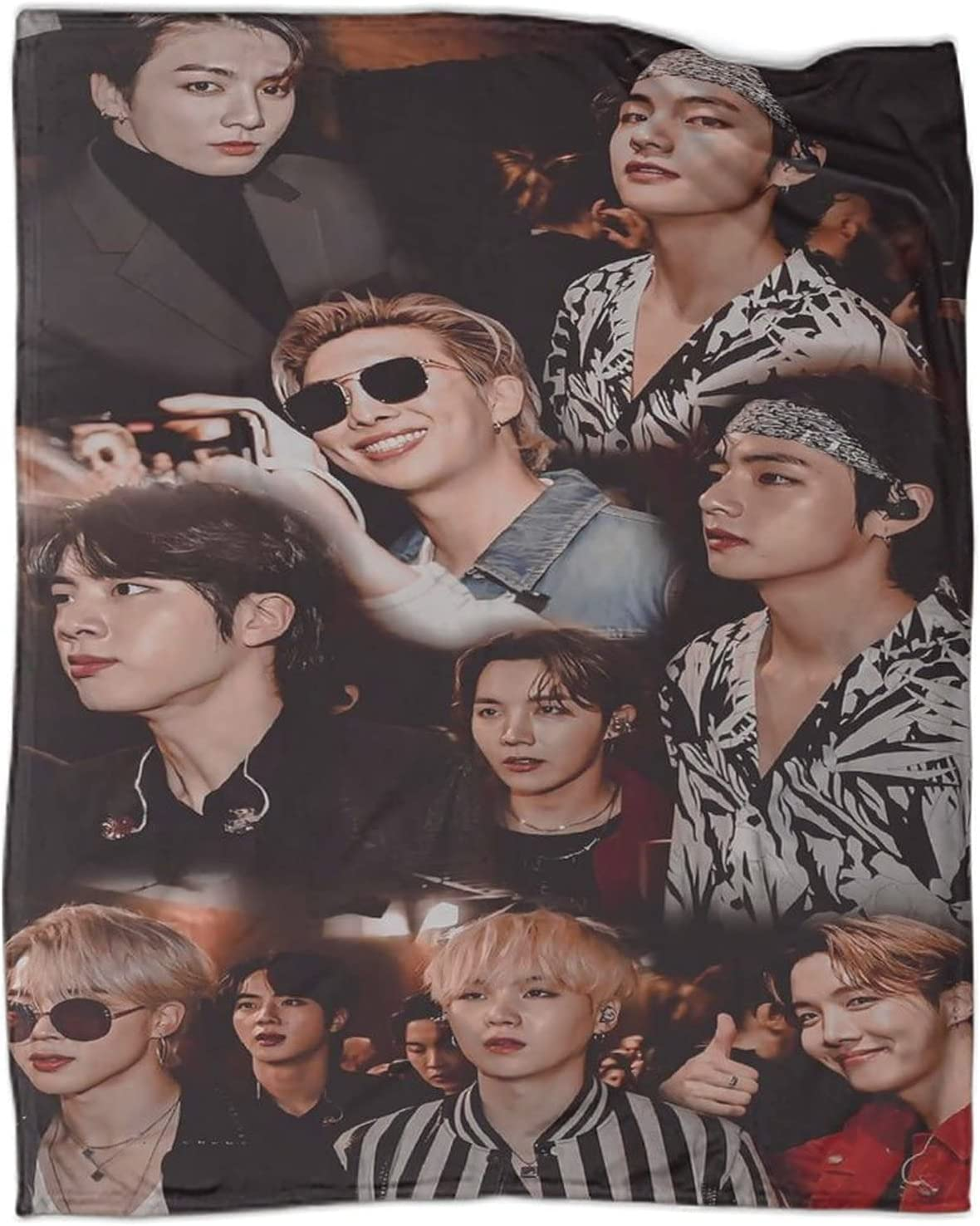 Wugod Fixed price for sale B-t-s Super special price Bangtan Boys 2020 So Blanket Lightweight Throw
