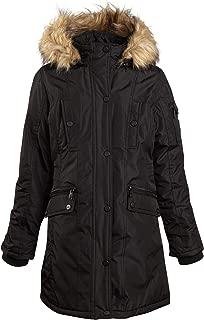 Steve Madden Girls' Windproof Heavyweight Parka Jacket with Fur Trimmed Hood