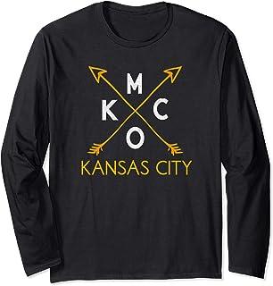Kansas City KCMO Vintage Kc Missouri Rustic Arrowhead Kcmo Long Sleeve T-Shirt