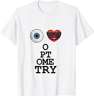 I Love Heart Optometry Snellen Eye Chart T-Shirt