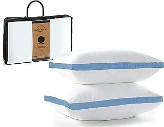 Oreiller | Oreillers à Gousset | Paquet de 2 | Inserts d'oreiller | 20 x 30 in / 51 x 76 cm | Hypoallergénique, Housse en ...