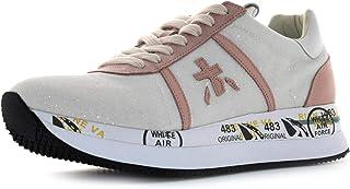 PREMIATA Sneakers Donna Conny 4031 Pelle Glitter Bianco