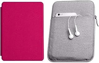 Capa Kindle Paperwhite 10ª geração à prova d'água Rosa Choque - Função Liga/Desliga - Fechamento magnético + Bolsa Sleeve ...