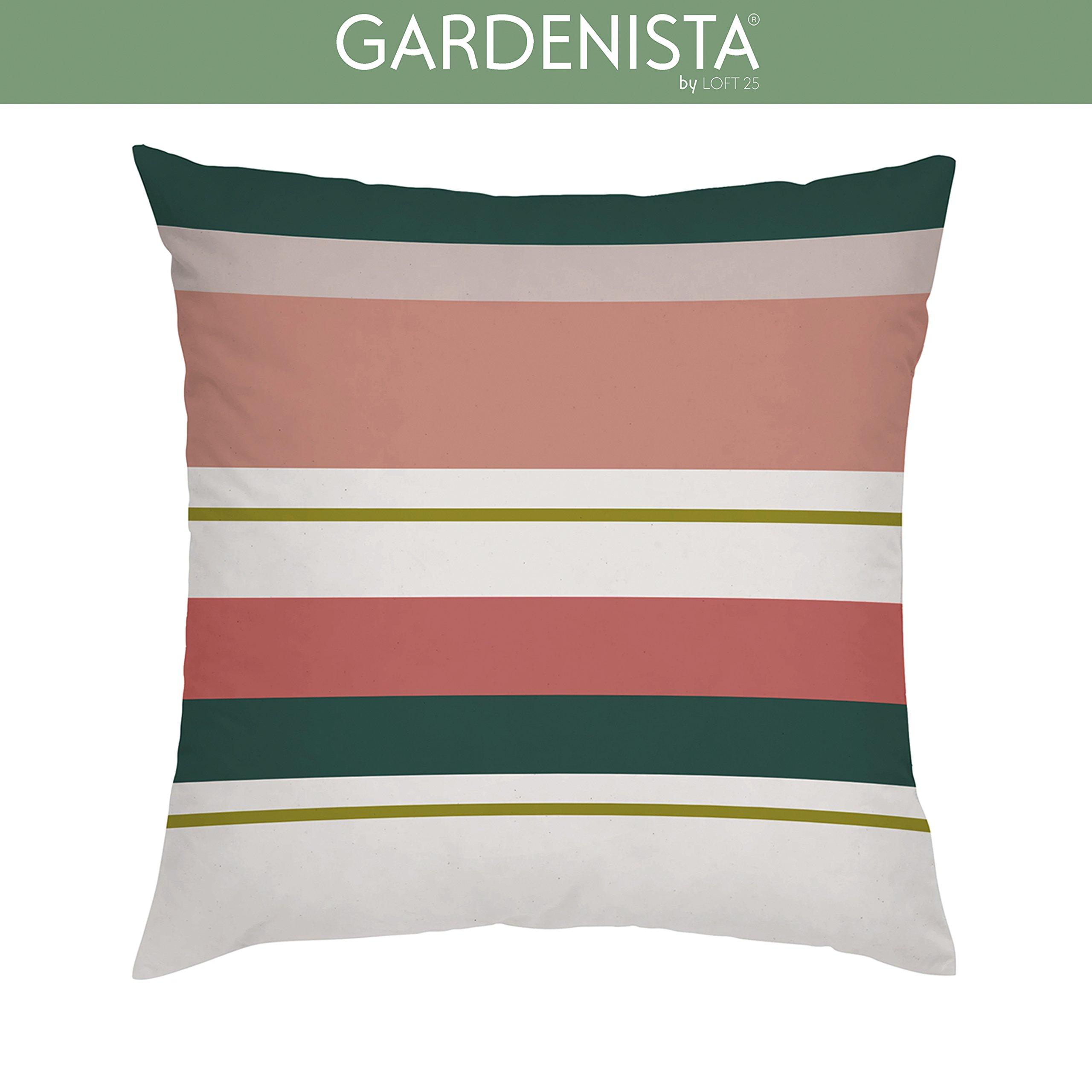 Waterproof 18 x 18 inch Outdoor Cushion Covers Garden Zipped Square 45 x 45 cm