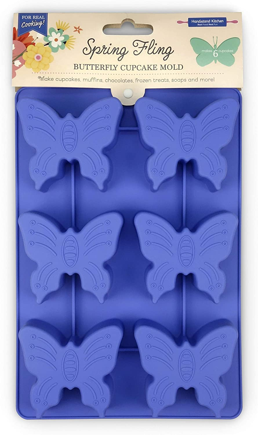 Handstand Kitchen Spring Fling Silicon Shaped 100% quality warranty! Butterfly Lowest price challenge Silicone