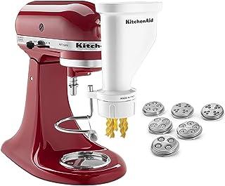 KitchenAid KSMPEXTA Gourmet Pasta Press Attachment with 6 Interchangeable Pasta Plates, Acero inoxidable