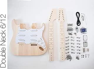 DIY Electric Guitar Kit - Double Neck 6 String 12 String Guitar