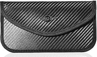 Faraday Bag for Car Key Fob and Cell Phone Signal Blocker Large Case, Keyless RFID Signal Blocking Large Black Bags