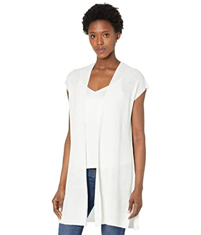 Eileen Fisher Organic Linen Cotton Long Vest (White) Women