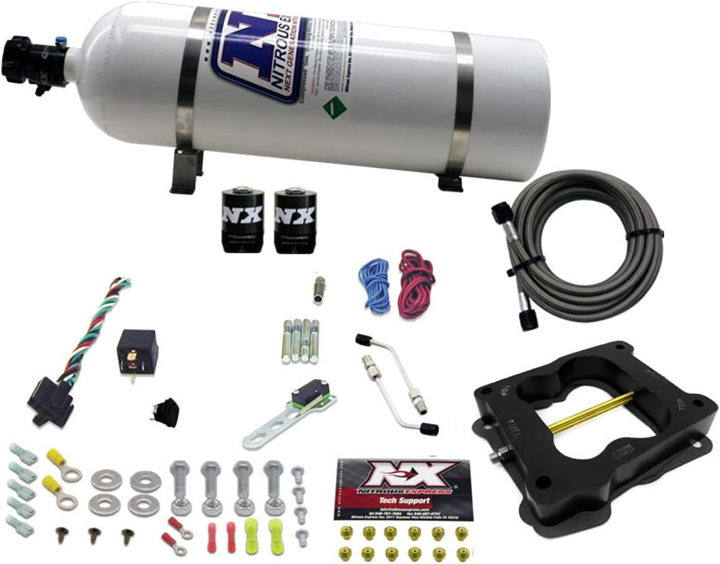 Nitrous Express 30080-15 50-300 HP Bore Q-Jet Spread Opening large release sale Topics on TV Conv Holley