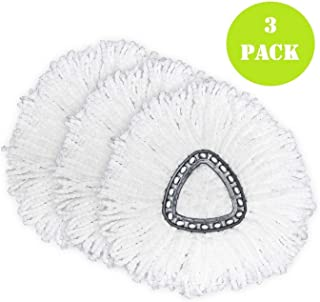3 Pack Spin Mop Replacement Head, Microfiber Spin Mop Refills, Easy Cleaning Mop Head Replacement
