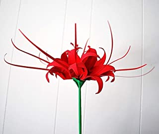 origami spider lily single stem paper flower