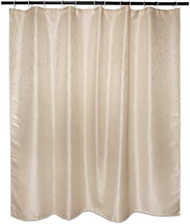 DII Everyday 100% Polyester Bath Textured Shower Curtains 72x72 - Cool Brown Bamboo