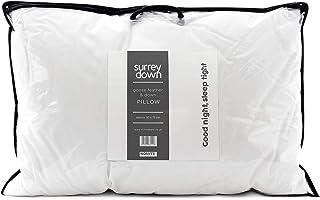 Surrey Down Almohada de Plumas de Ganso Blanco y plumón, 50 x 75 cm
