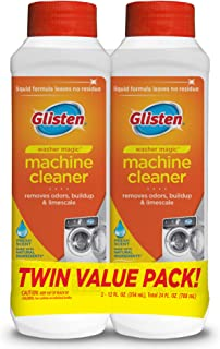 Glisten WM03N-SS Washer Magic Washing Machine Cleaner & Deodorizer, 12 Fl. Oz. Bottle, 2 Pack, 24