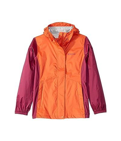 Marmot Kids PreCip(r) Eco Jacket (Little Kids/Big Kids) (Nasturtium/Purple Berry) Girl