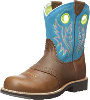 ARIAT Girls Kids' Fatbaby Collection Western Boot Brown Size: