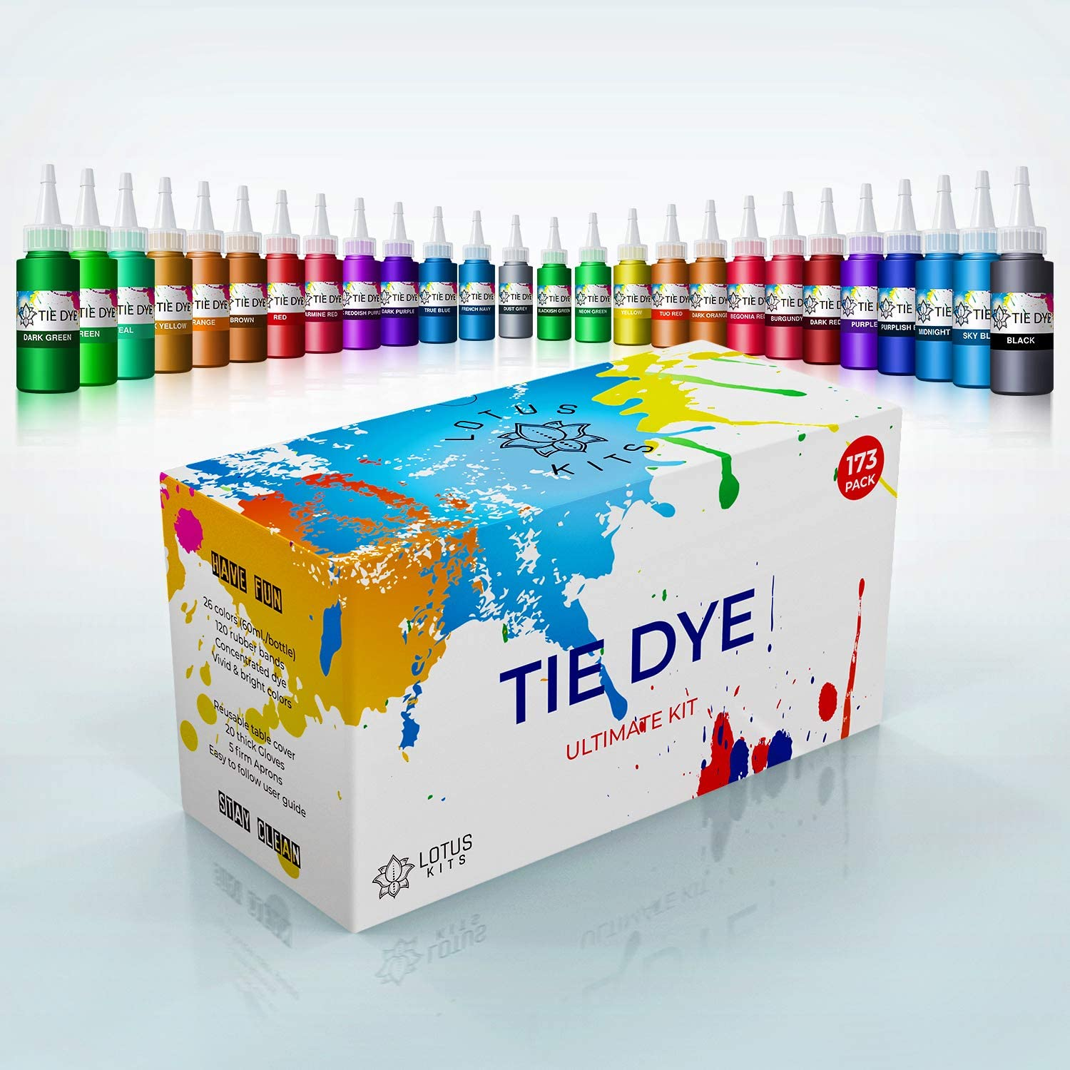 Tie Dye Kit Set of 26 Fabri Cheap mail order shopping Colored Natural and for Clothes Max 74% OFF