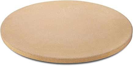 Unicook Pizza Stone for Grill and Oven, 15 Inch Round Ceramic Baking Stone, Heavy Duty Pizza Cooking Pan, Thermal Shock Resistant, Ideal for Making Crisp Crust Pizza, Bread and More, Includes Scraper