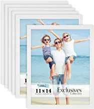 Icona Bay Picture Frames 11x14 (6 Pack, White) Family Picture Frame, Picture Frames 11 x 14, Exclusives Collection
