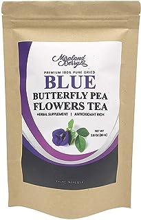 MiralandBerry Dried Butterfly Pea Flowers, (2.8Oz), Premium Quality Thai Herbal Tea, Antioxidants Rich, Ideal for Tea Desserts Beverage