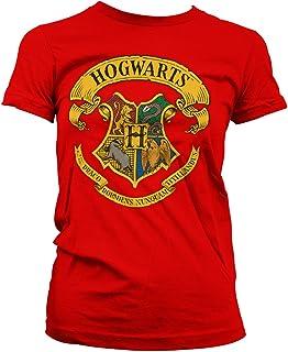 HARRY POTTER Oficialmente Licenciado Hogwarts Crest Mujer Camiseta
