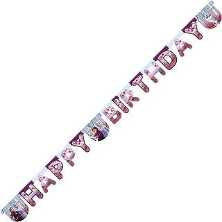 """Procos Frozen 2""""Happy Birthday"""" Die-Cut Banner, 99491"""