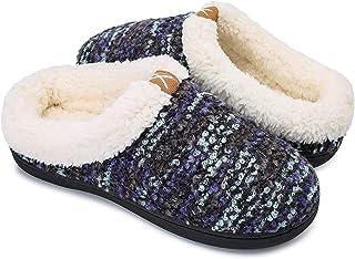 OUSIMEN Zapatillas Casa Hombre Mujer Invierno Calido Zapatillas Memory Foam Slipper Ultraligero cómodo y Antideslizante Za...