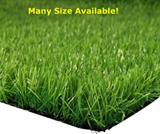 Synturfmats Premium Indoor/outdoor Green Artificial Grass Rug - 3'x3' Decorative Synthetic Turf Runner Rugs Carpet with Drainage Holes