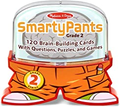 Melissa & Doug Smarty Pants 2nd Grade Card Set - 120 Educational Brain-Building Questions, Puzzles, and Games