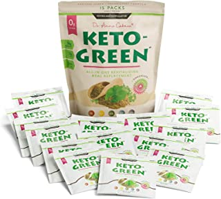 Keto Green Protein Shake - Chocolate Ketogenic Protein Powder Drink, Lactose Free Vegan Protein, Supports Gastrointestinal...