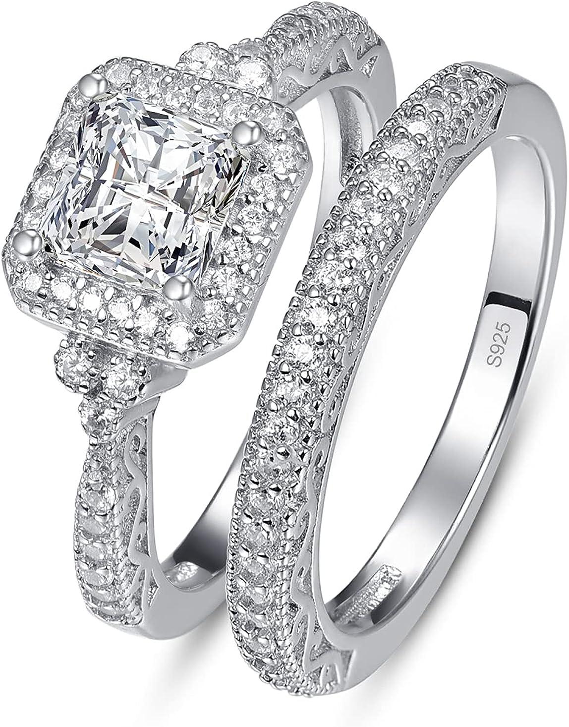 Popular popular YARESUL 925 Sterling Silver Engagement Ring Sale Prince Women Set for