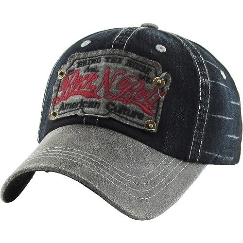 13b6617905a33 KBETHOS Rock N Roll Collection Vintage Distressed Baseball Cap Dad Hat