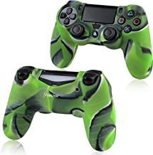 For PS4 Controller Silicone Skin Case Cover, Insten Rubber Silicone Protective Skin Case Cover Compatible With Sony PlayStation 4 PS4 Controller, Camouflage Navy Green