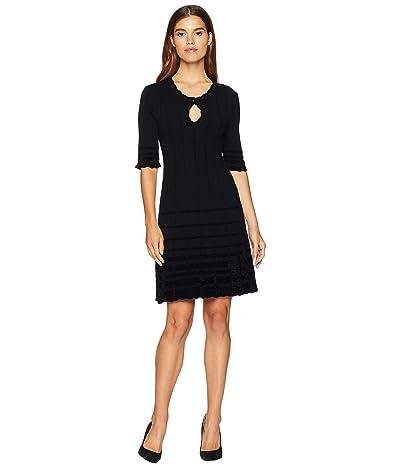 Nanette Lepore Harlot Knit Dress (Black/Black) Women