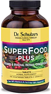 Dr. Schulze's | SuperFood Plus | Vitamin & Mineral Herbal Concentrate | Dietary Supplement | Daily Nutrition & Increased E...