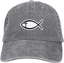Trucker Cap Simple Strokes Fish Durable Baseball Cap Hats Adjustable Dad Hat Black Cool21364