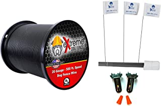 20 Gauge (AWG) Universally Compatible Electric Dog Fence Wiring Installation Kit w/ 2 Waterproof Splices and 50 Training Flags- For Use with ANY Brand or Model of Underground Electric Dog Fence System