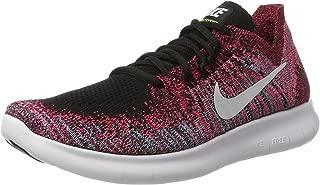 Nike Women's Wmns Free RN Flyknit 2017, WHITE/WHITE-PURE PLATINUM