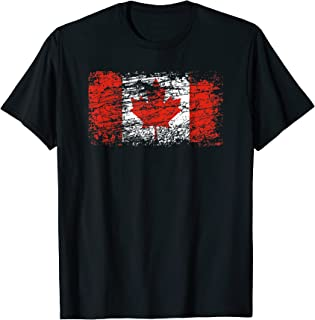 CANADA FLAG MAPLE LEAF DISTRESSED VANCOUVER MONTREAL QUEBEC T-Shirt