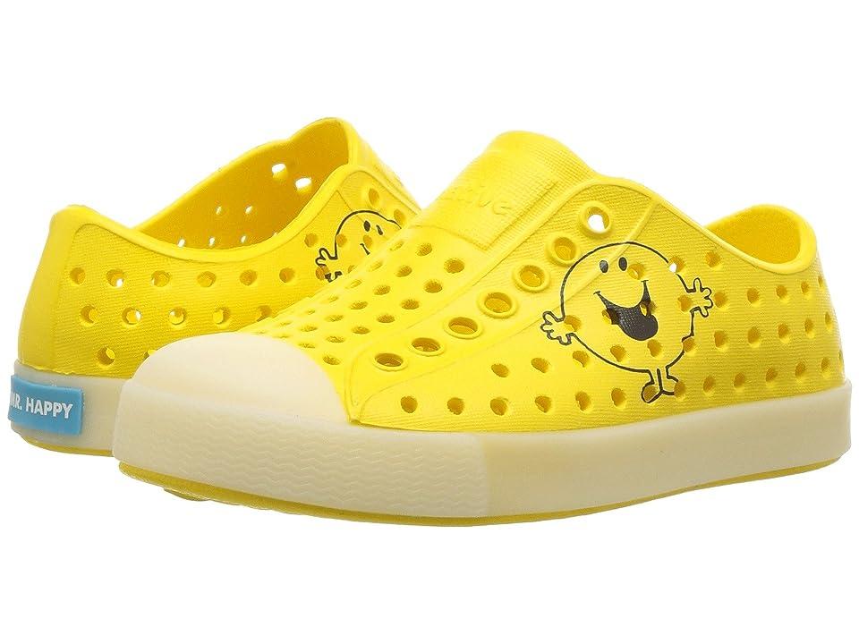 Native Kids Shoes Jefferson Glow (Toddler/Little Kid) (Yellow Glow) Kids Shoes