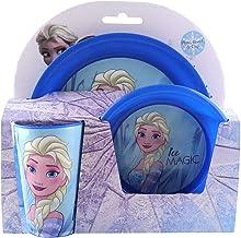 Disney Frozen Plastic Dinnerware Plate Bowl Mug Set 3Pcs Breakfast Set