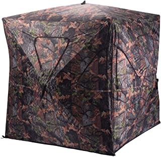 PNPGlobal Tent Hunting Camping Blind Portable Deer Pop Up Camo Hunter Weather Proof Mesh Window