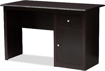 Baxton Studio Etamps Desk, Wenge Dark Brown