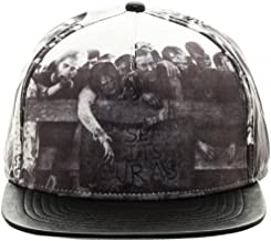 Bioworld AMC The Walking Dead Sublimated All Over Print PU Faux Leather Snapback