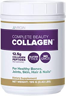 JJ Virgin Complete Beauty Collagen - Unflavored Collagen Peptides Powder Supplement - Supports Joint Health & Promotes Enhanced Skin, Hair & Nails - Gluten Free & Dairy Free (15 Servings, 195 Grams)