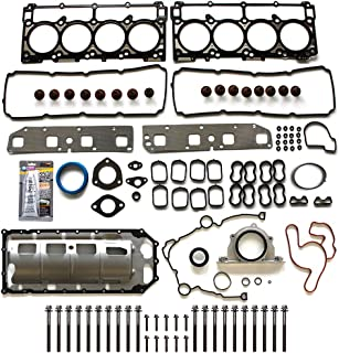 SCITOO Compatible with Full Gasket Head Bolts Sets, fit 2003-2008 Dodge Durango Chrysler 300 Jeep 5.7L V8 OHV Engine Full Head Gaskets Automotive Replacement Gasket Sets