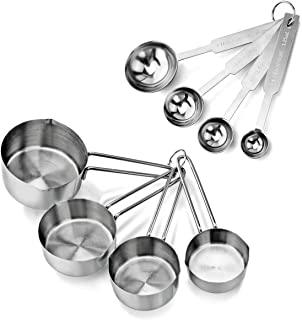 Best New Star Foodservice 42917 Stainless Steel Measuring Spoons and Measuring Cups Combo, Set of 8 Reviews