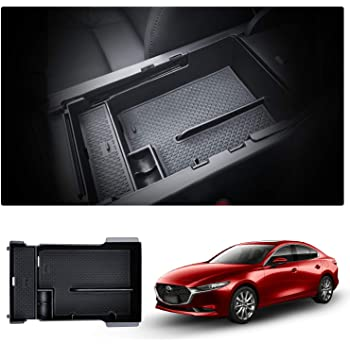 Auto Multifunktionaler Mittelkonsole Aufbewahrun Handschuhfach Mazda3 CX30 2020 Center Console Organizer Tray CDEFG CX-30 Aufbewahrungsbox Armlehne Zubeh/ör Blau
